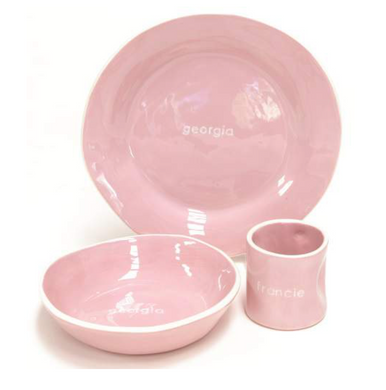 Tipped Dish Set in Pink