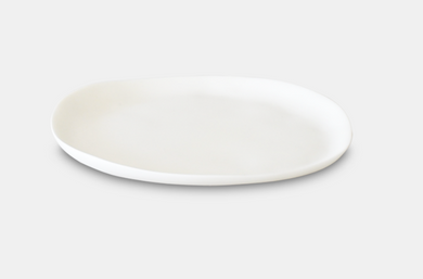 Large Round Plate-White