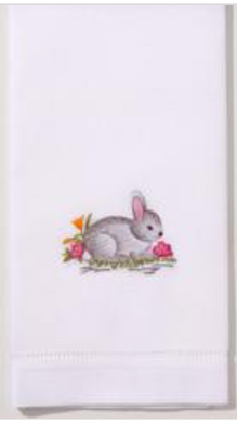 Bunny Gray Hand Towel
