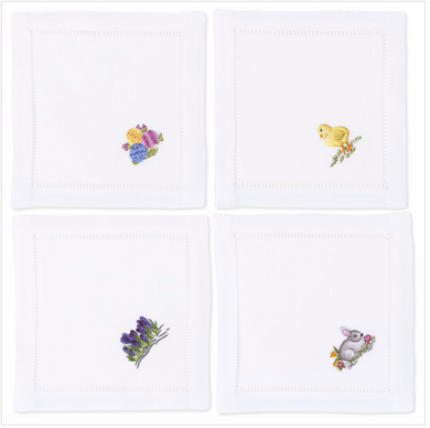 Easter Cocktail Napkins - Set of 4