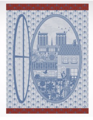 TEA TOWEL FENÌ_TRE SUR PARIS SKY