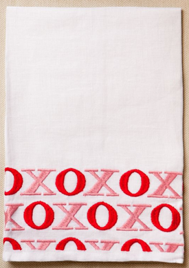 XO Tip Towel Pink/Red