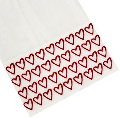 Half Hearted Tip Towel Red