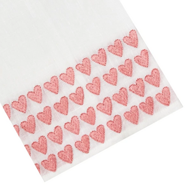 Full Hearted Tip Towel-Pink