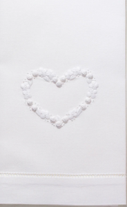 Flower Heart White Towel