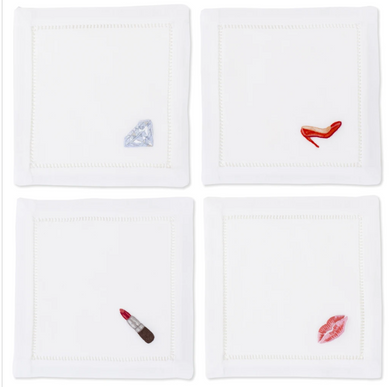 Diva Cocktail Napkin-Set of 4