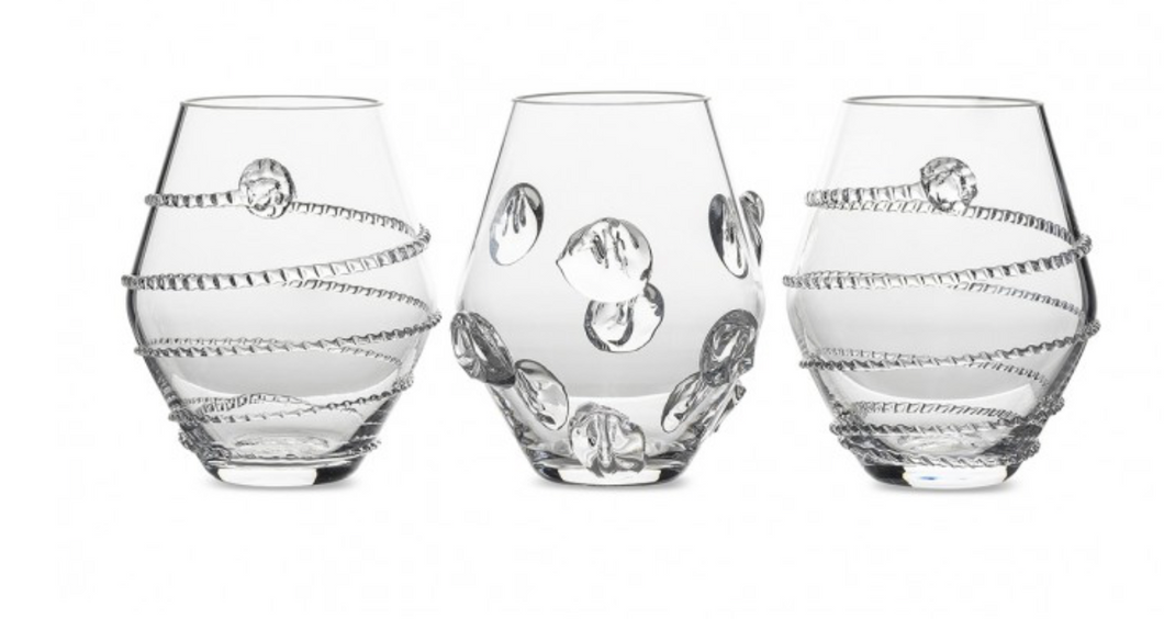 Assorted Vases S/3 Clear