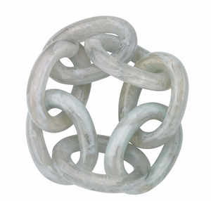 Chain Link Celadon Napkin Ring Set of 4