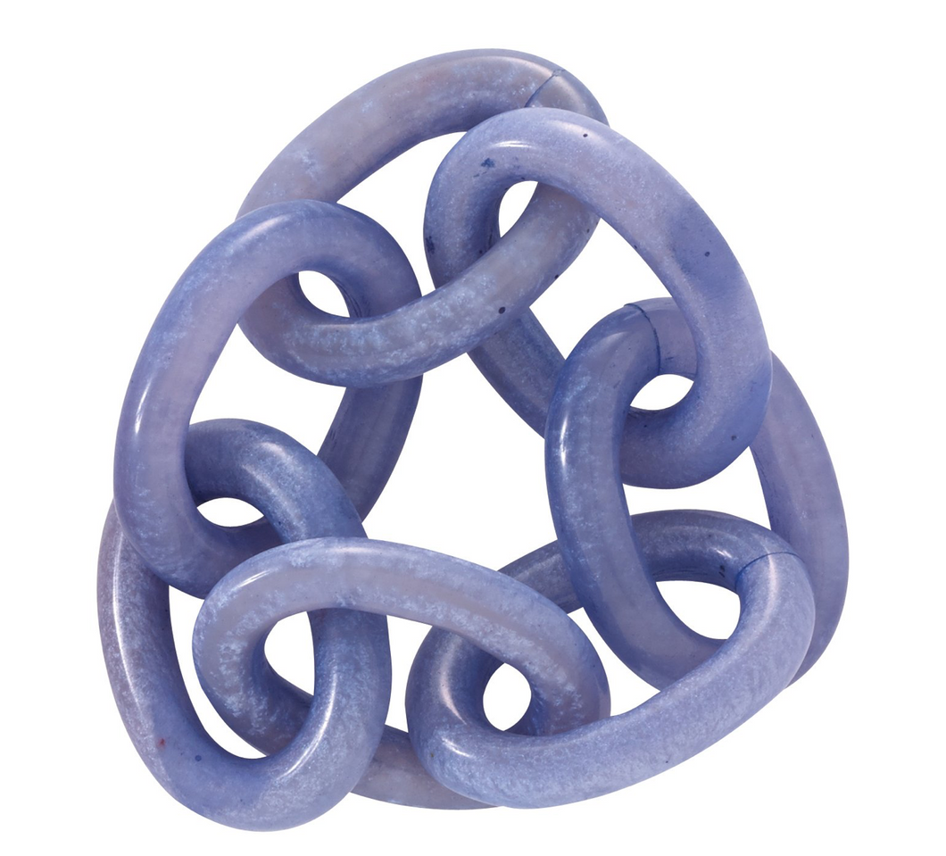 Chain Link Periwinkle Napkin Ring Set of 4