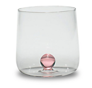 Glass Tumbler Pink Sphere