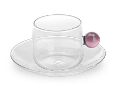 Cappucino Cup and Saucer Pink Sphere