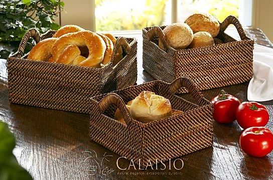 Square Basket w/Up Handle Sm
