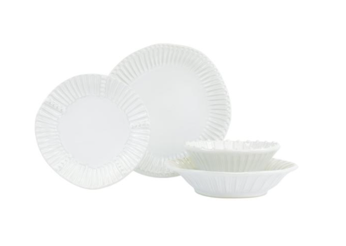 Incanto Stone White Stripe Dinnerware