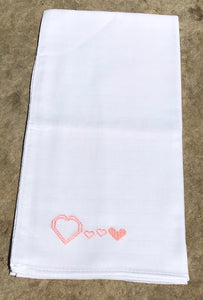 Burp Cloths Heart - Pink