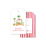 Christmas Topiaries Gift Tags
