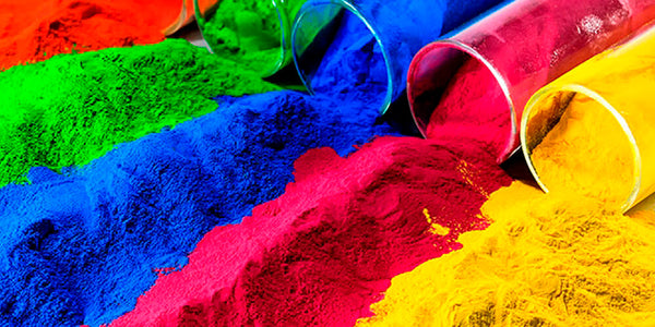 colour pigments yellow red blue green