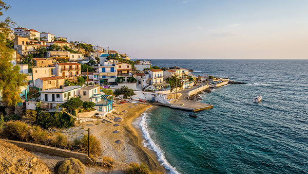 coastal town ikaria island greece 5 blue zones blog seahorse silks