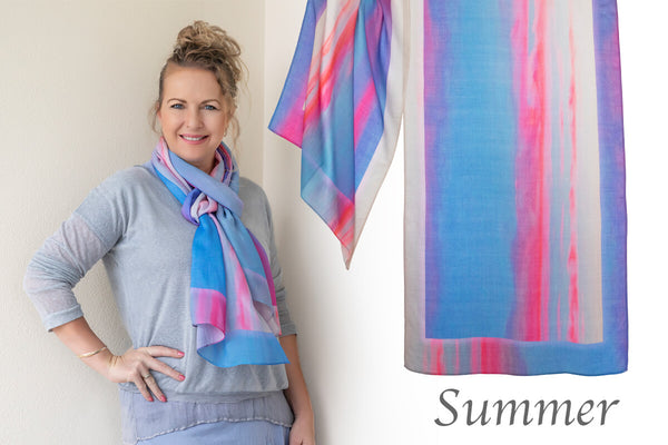 scarf by seahorse silks for summer tone lady