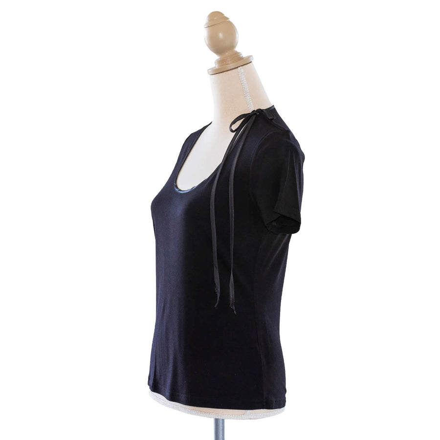 ebony black jersey top LHS by seahorse silks