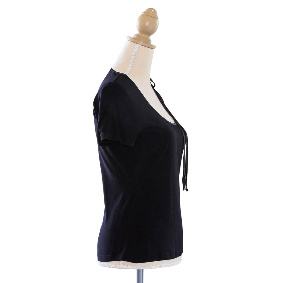 ebony black jersey top RHS by seahorse silks