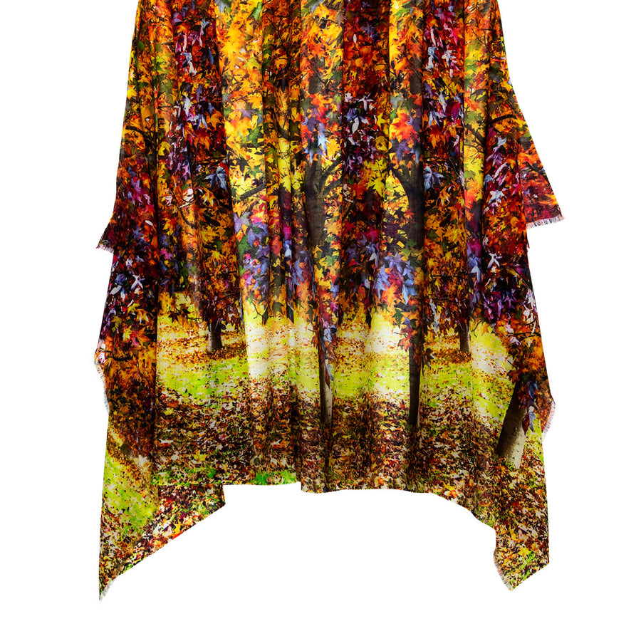 design of autumn wool cashmere scarf pashmina by seahorse silks