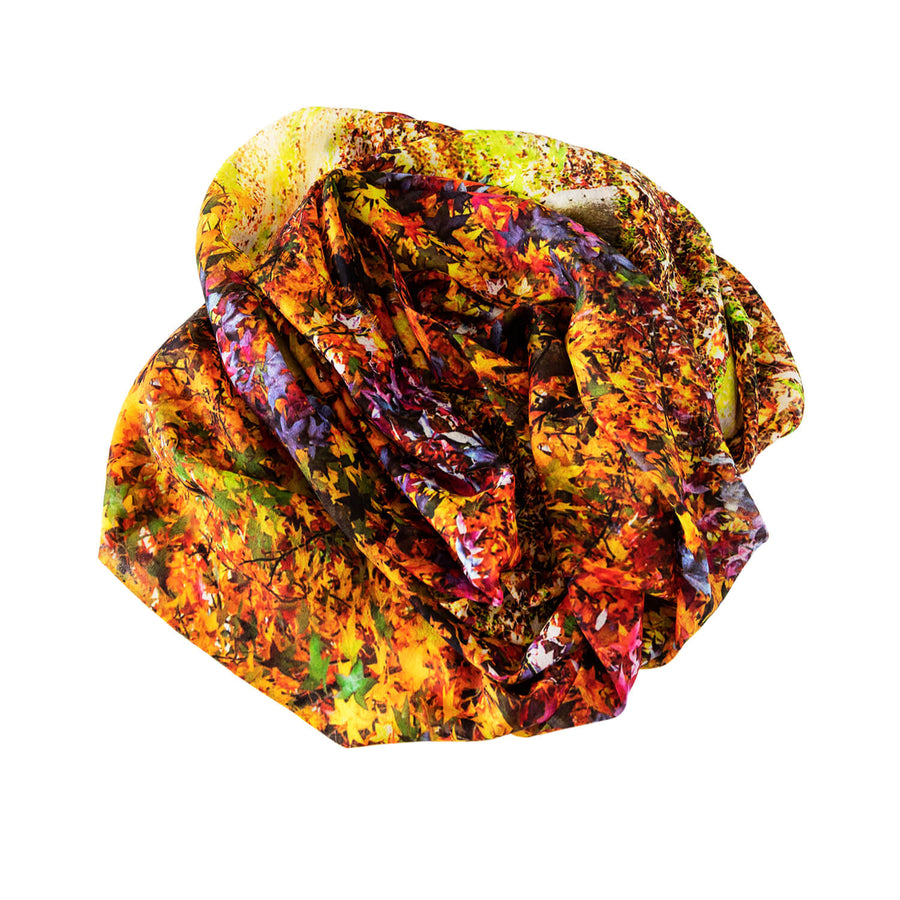 colours of autumn cashmere wool mens scarf by seahorse silks