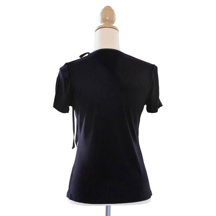 ebony black jersey top back by seahorse silks