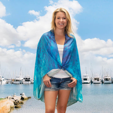 barchetta square scarf beach coverup by seahorse silks