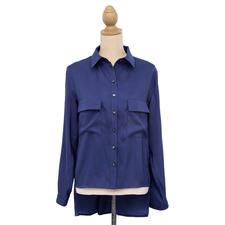 blueberry manhatten long sleeve shirt by seahorse silks front