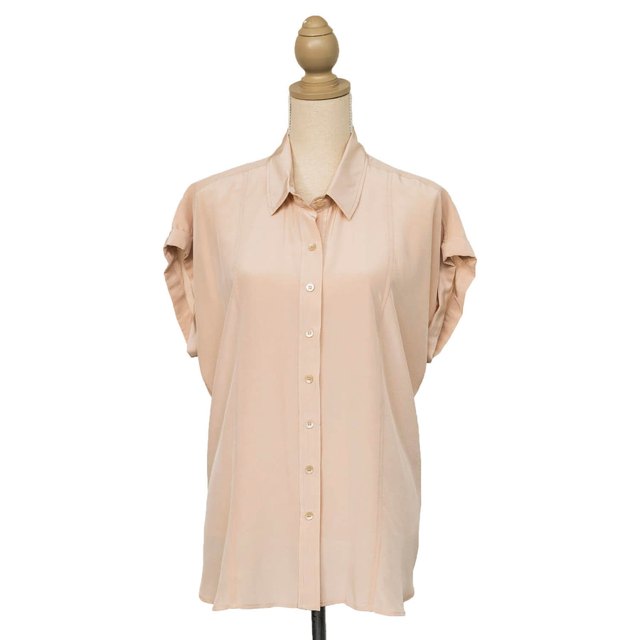 champagne essential silk shirt front by seahorse silks
