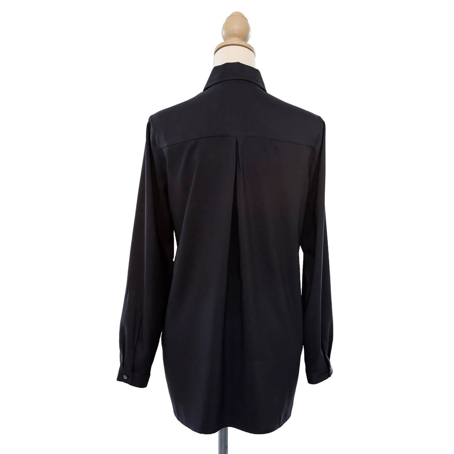ebony black manhatten shirt back by seahorse silks