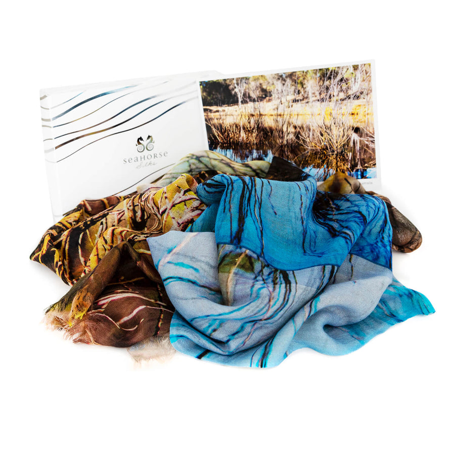 the dam cashmere wool gift boxed scarf pashmina by seahorse silks