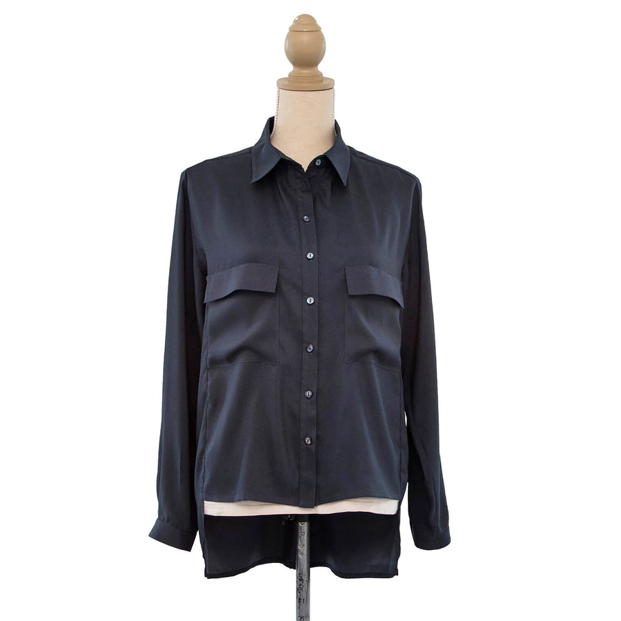 front midnight manhatten shirt by seahorse silks
