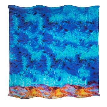reef edge wearable art large square scarf sarong by seahorse silks
