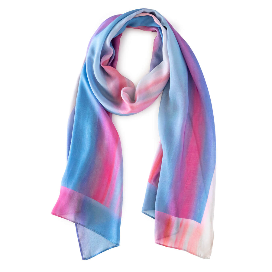 pink & blue g & t time scarf by seahorse silks