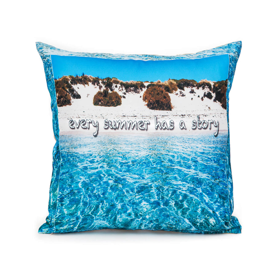 front summer story photo cushion by seahorse silks