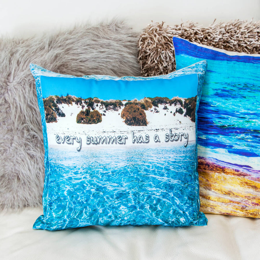 mix n match summer story linen cushion with texture