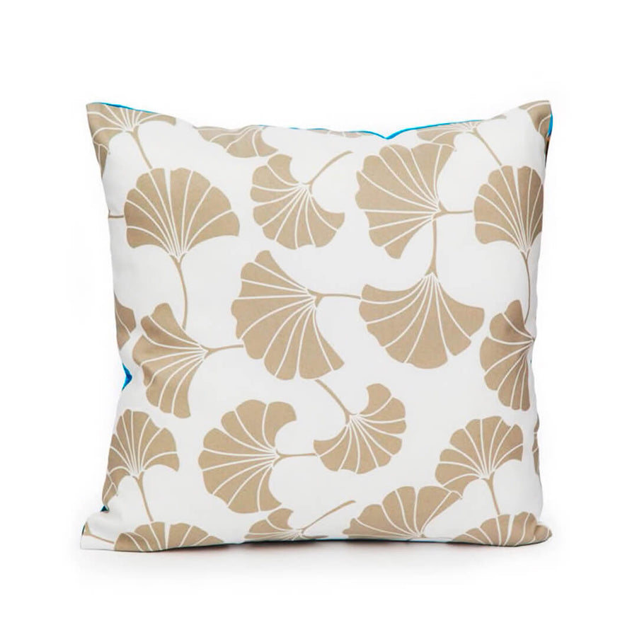 back summer story linen cushion by seahorse silks