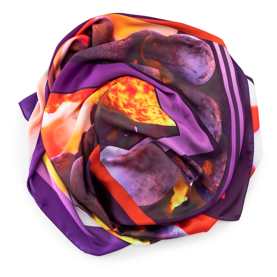 detail vino wearable art large square scarf by seahorse silks