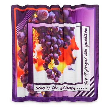 vino wearable art large square scarf by seahorse silks