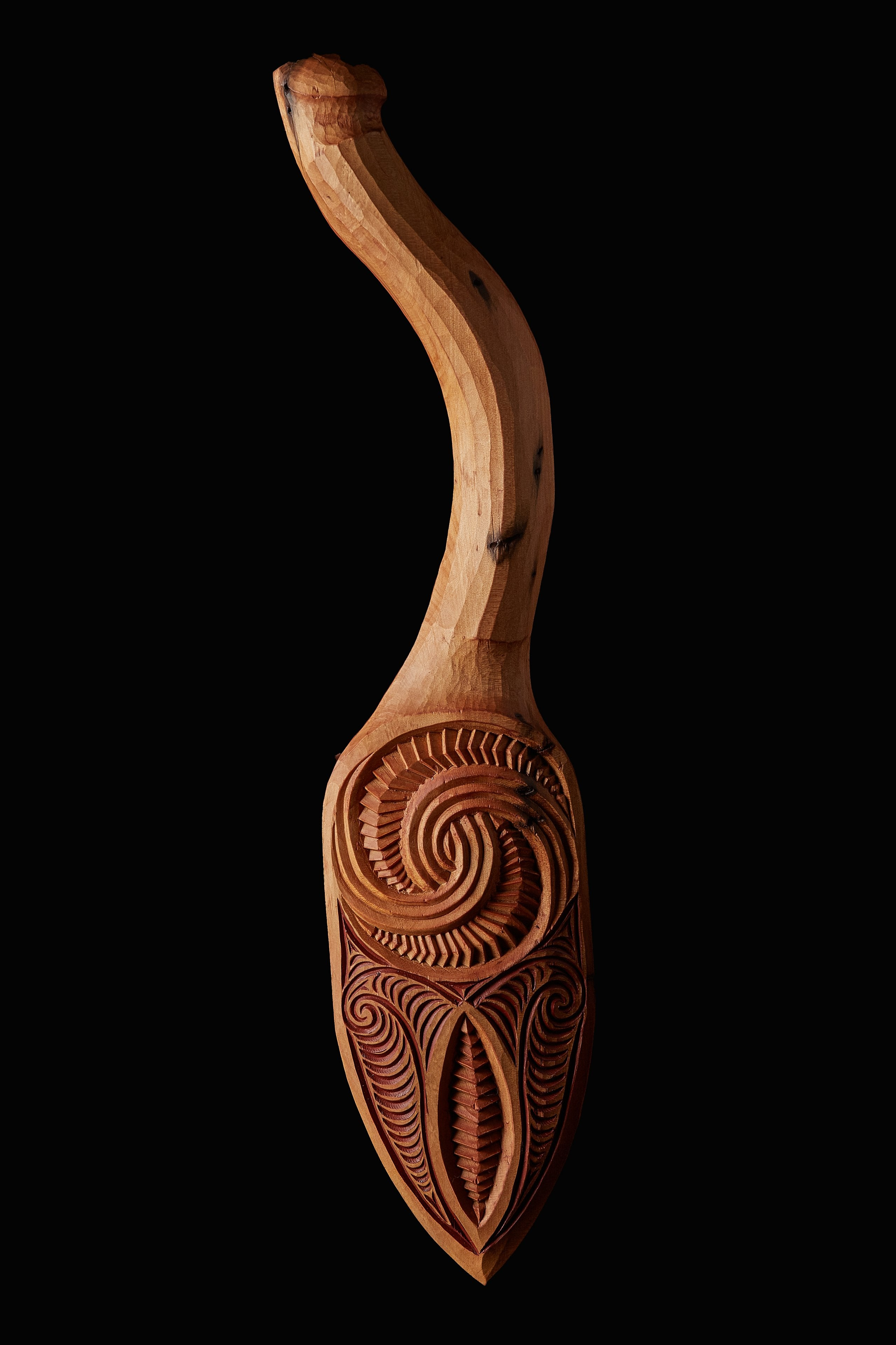 carved hoe paddle michael matchitt