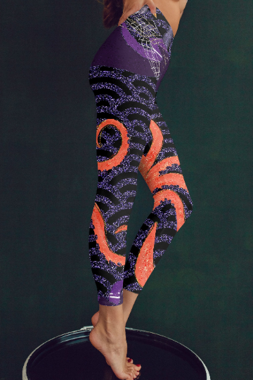 Octopus leggings, Capris and Shorts - The Foxtrot Clothing
