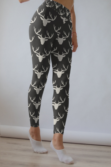 Deer leggings, Capris and Shorts - The Foxtrot Clothing