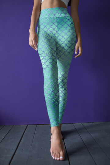 Mermaid leggings, Capris and Shorts - The Foxtrot Clothing