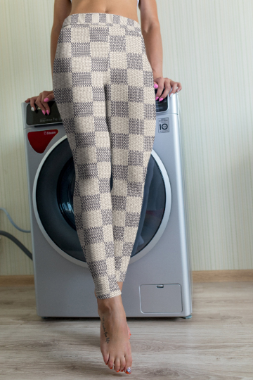 White Checkered leggings, Capris and Shorts - The Foxtrot Clothing