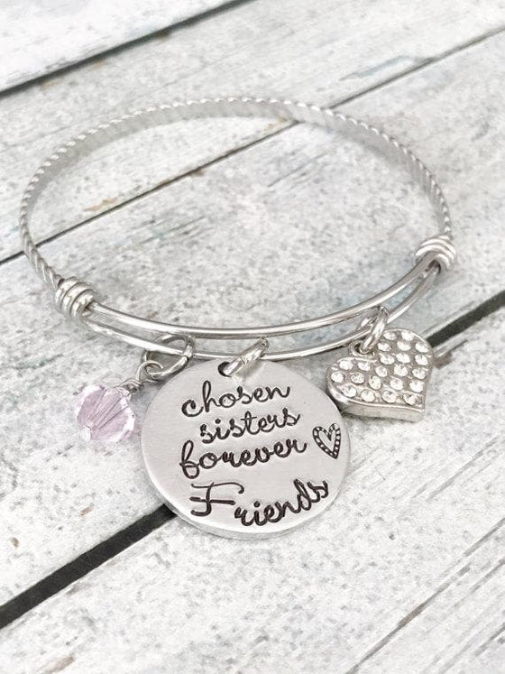 Best friends - Sisters bracelet - Hand stamped - The Foxtrot Clothing