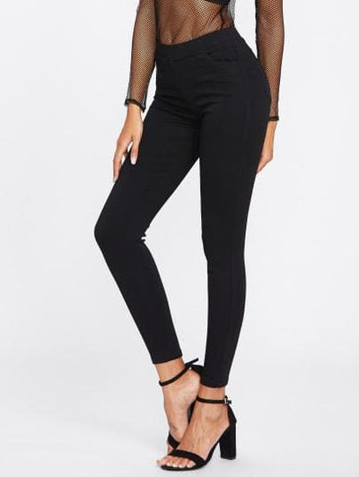 Black Skinny Jeans - The Foxtrot Clothing