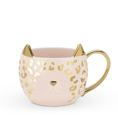 Chloe™ Pink Leopard Cat Mug by Pinky Up® - The Foxtrot Clothing