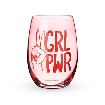 GRL PWR Stemless Wine Glass by Blush® - The Foxtrot Clothing