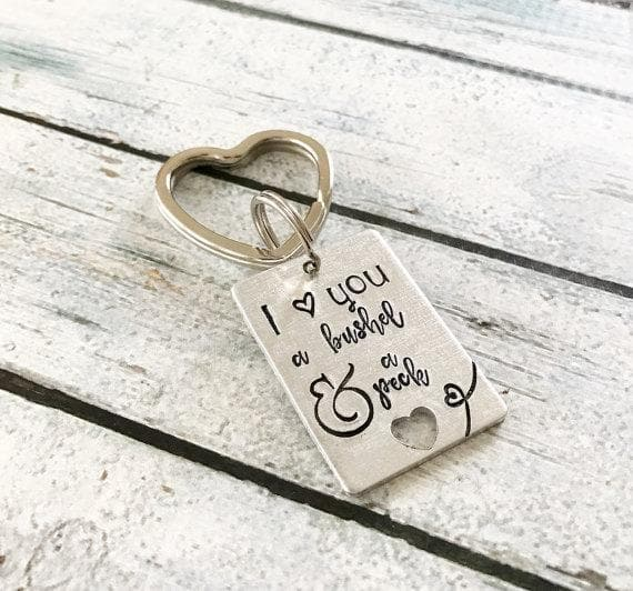 I love you a bushel and a peck - Hand stamped